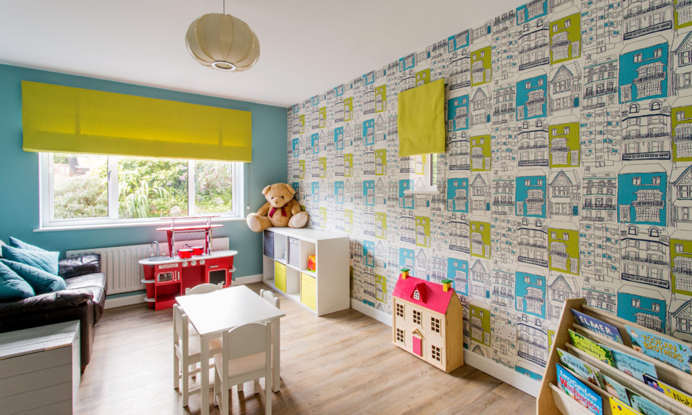 colourful children's room, playroom with wallpaper, Interior designer Oxfordshire, home decor, interior stylist, interior designer buckingham, interior designer berkshire, interior designer London, playroom interior design Henley,