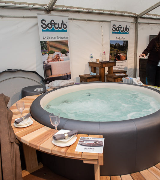 garden hot tub display, home and garden show, house and garden show, henley house and garden show 2019, Niki scahfer interior design Oxfordshire, nikki schafer, nicky schafer,
